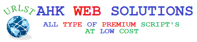 AHK WEB SOLUTIONS All category Source Code And Other Web Applications